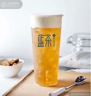 桂花乌龙奶盖-蓝茶高山茶加盟
