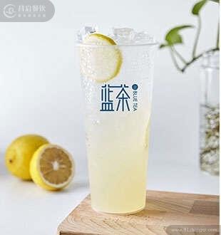 柠檬气泡苏打-蓝茶茶饮加盟