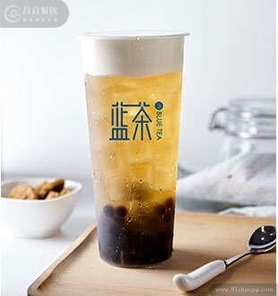 格雷红茶奶盖_蓝茶茶饮