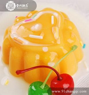 芒果布丁_堂代甜品