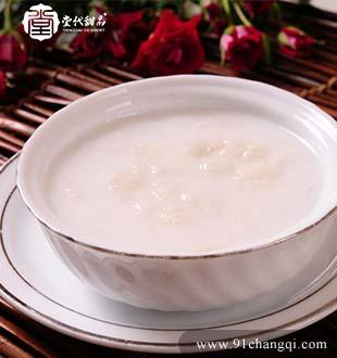 椰汁炖雪蛤_堂代甜品