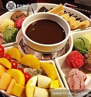 饼干水果火锅_堂代甜品