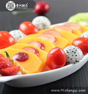 鲜芒果盘_堂代甜品