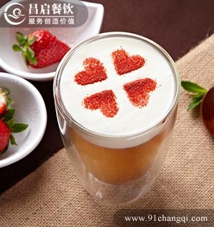 金姜草莓奶盖_堂代甜品