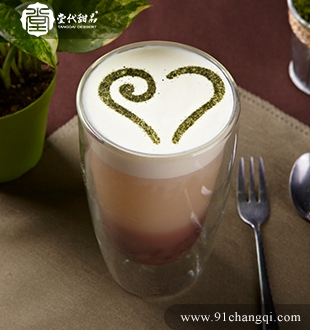 金姜红豆奶盖_堂代甜品