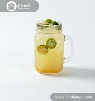 鲜金桔柚子茶 _堂代甜品
