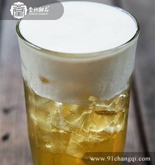 芝士果香野梅绿茶 _堂代甜品