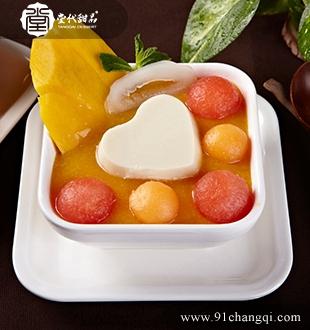 鲜杂果豆腐花_堂代甜品