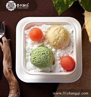 绿茶雪山榴莲_堂代甜品