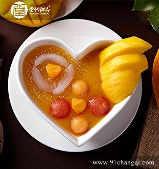 芒果汁鲜果西米露_堂代甜品