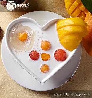 椰汁鲜果西米露_堂代甜品