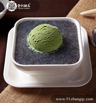 黑珍珠绿茶雪山_堂代甜品