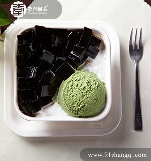 凉粉绿茶雪山_堂代甜品