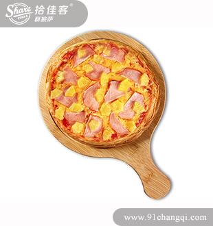 菠萝熏鸡酥披萨-拾佳客欧式披萨汉堡加盟