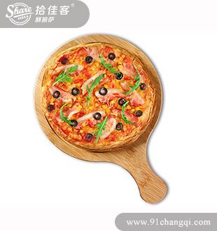黑椒培根酥披萨-昌启拾佳客披萨汉堡加盟