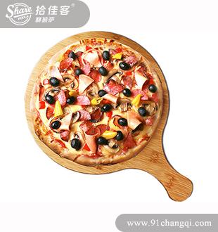 胡桃木烤肉披萨-拾佳客欧式披萨加盟