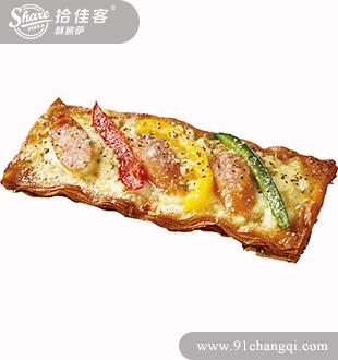 香焗热狗掌上酥披萨-拾佳客披萨小吃加盟官网