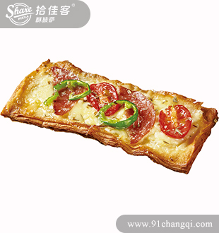 萨拉米掌上酥披萨-拾佳客披萨加盟