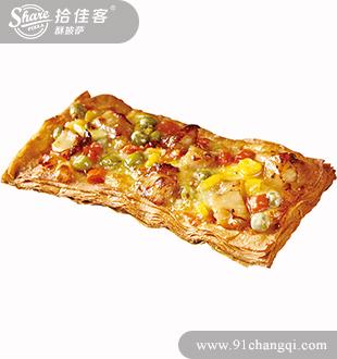 飘香咖喱牛肉掌上酥披萨-拾佳客披萨加盟