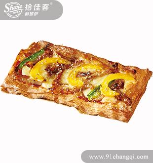 巴犀烤肉掌上酥披萨-拾佳客汉堡酥披萨加盟