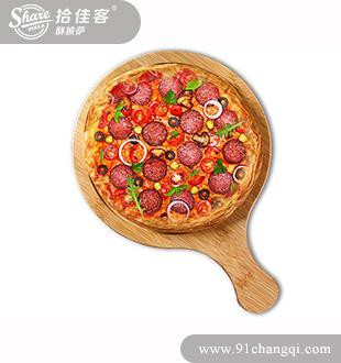 法兰克福烤肠酥披萨-拾佳客披萨汉堡小吃加盟