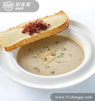 奶油蘑菇汤_拾佳客酥披萨