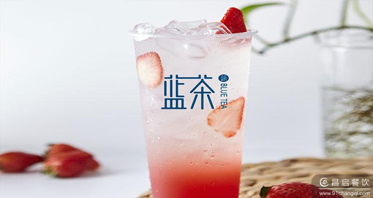昌启餐饮集团旗下蓝茶茶饮加盟创业项目开辟养生海藻茶