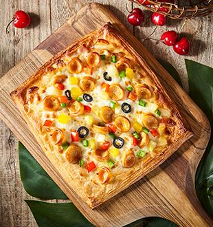 风味烤肠酥披萨