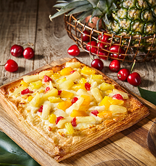 热带水果酥披萨
