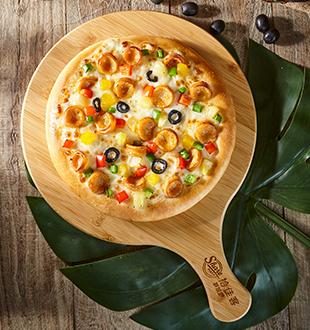 风味烤肠披萨-拾佳客九块九披萨加盟
